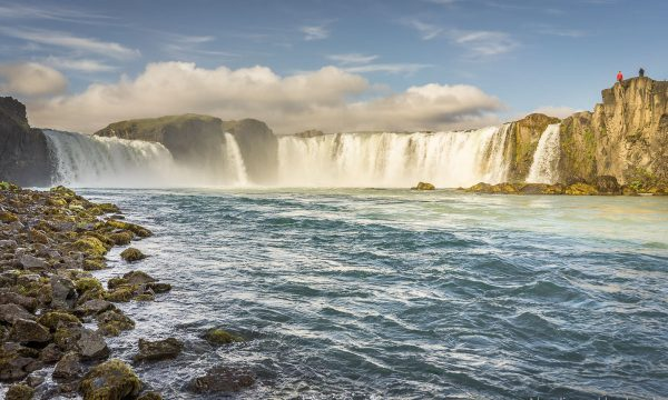 The very beautifull waterfall of the gods known as Godafoss.