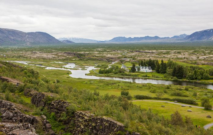 A view over the National Park, as seen from atop the North American tectonic plate.