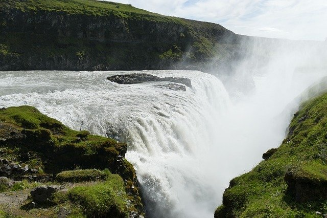 View of Gullfoss from the side