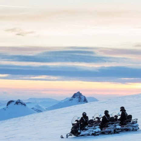 Snowmobiles on Langjökull