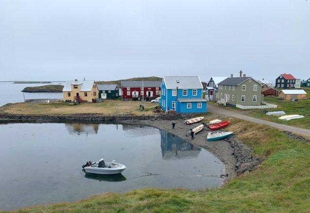 Flatey Island harbour in between Snaefellsnes and Iceland's Westfjords