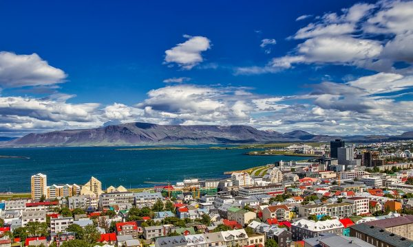 Reykjavik during the summer.