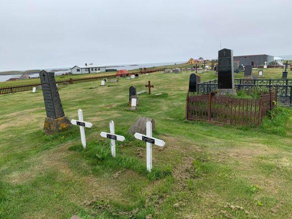 Un cimetière sur Flatey.