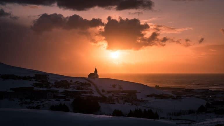 Sunset at Vík í Mýrdal