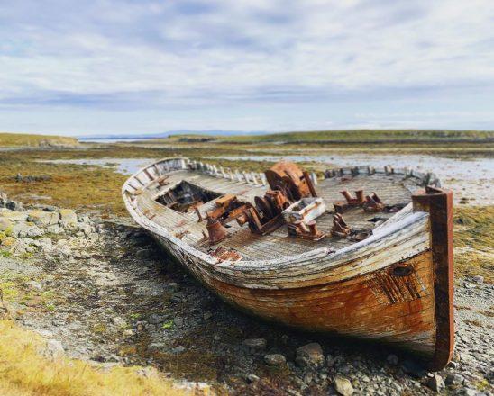 Une épave sur l'île Flatey
