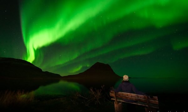 Aurora Borealis otherwise known as Northern Lights above the famous Kirkjufell on the Snaefellsnes peninsula in the west of Iceland