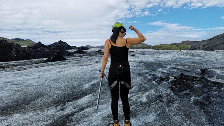 Glacier hike solheimajokull