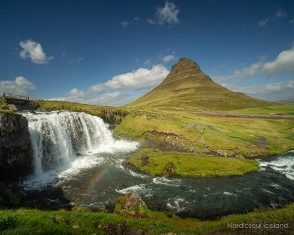 Kirkjufell Mountain on Iceland's Snaefellsnes Peninsula.