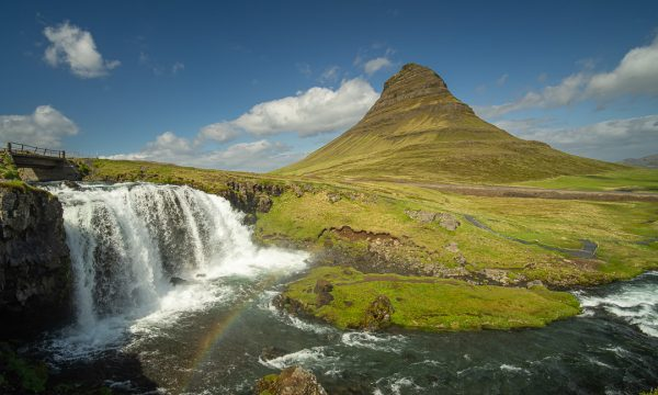 Kirkjufell Mountain on Iceland's Snaefellsnes Peninsula.