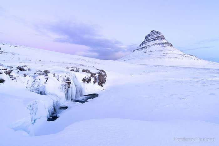 Kirkjufell-under-the-snow-on-Sneafellsnes-itinerary