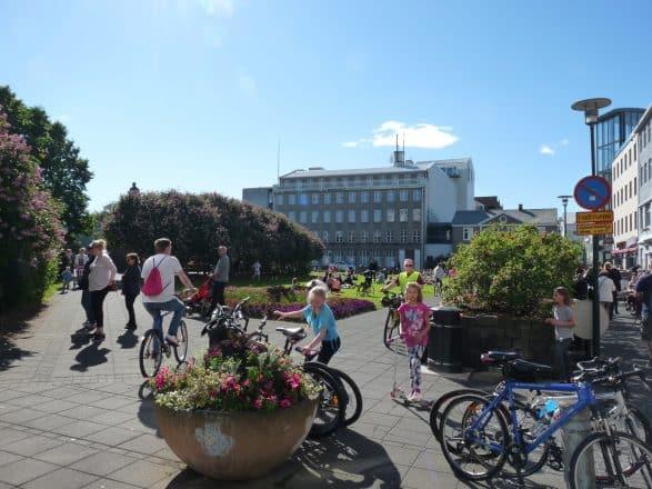 Locals of Reykjavik in summer