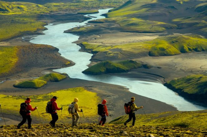 Hiking in the Icelandic highlands