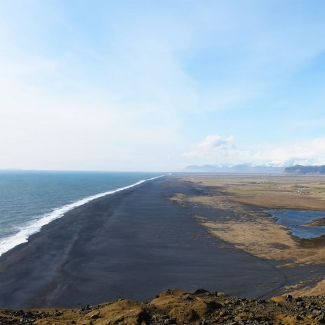 Magnificent view from Dyrholaey lighthouse in the south of Iceland