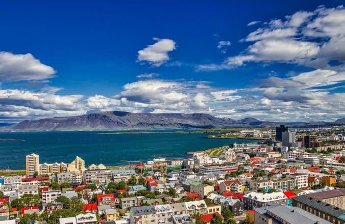 Reykjavik during the summer