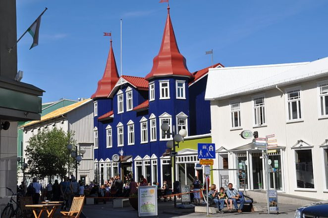 A building in Akureyri, Iceland
