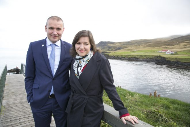 The President of Iceland and first lady.