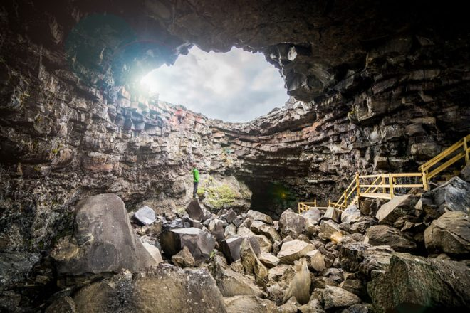 The vidgelmir lava cave in the west of iceland is one of the biggest that you can visit