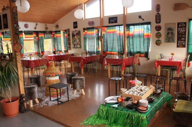 The interior of Minilik restaurant