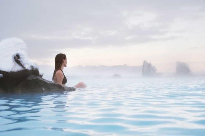 Entrée aux bains naturels de Mývatn dans le nord de l'Islande