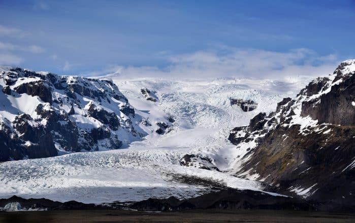 A huge glacier in South Iceland