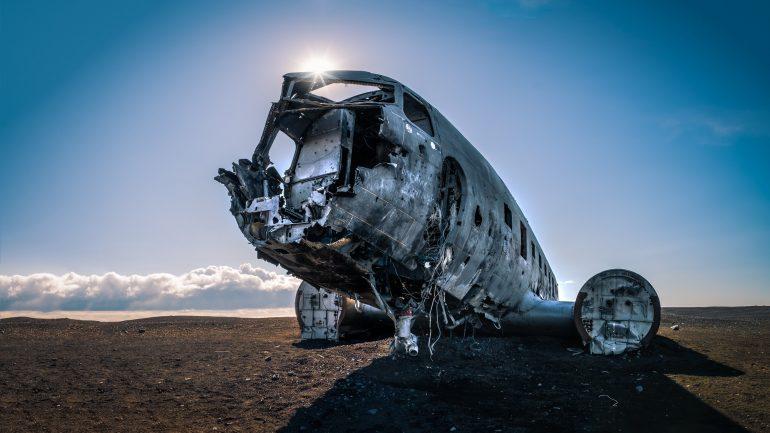 The skeletal DC Plane Wreck