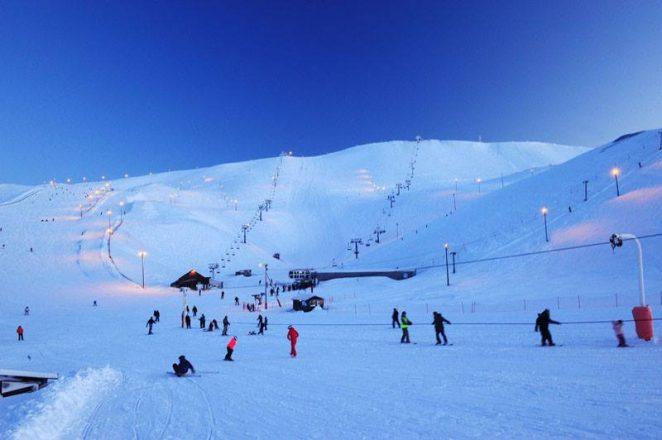 Une station de ski en Islande