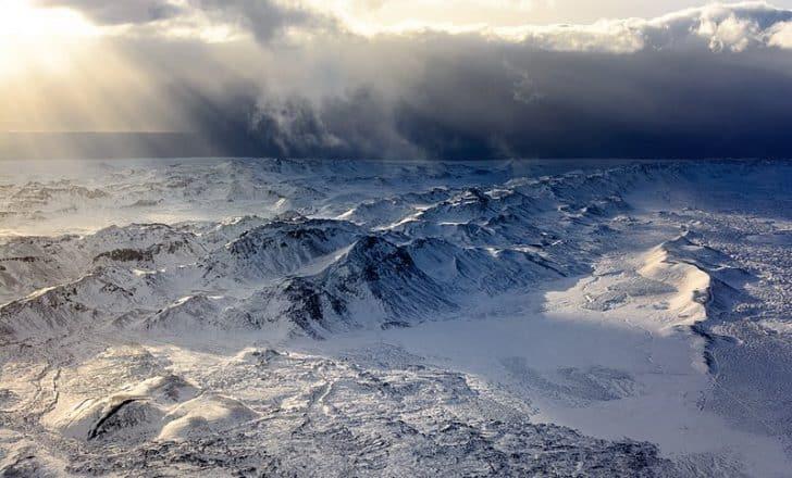 Une vue aérienne de la péninsule de Reykjanes