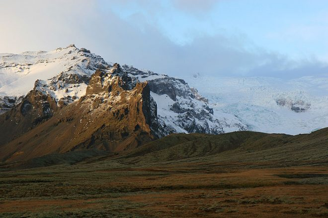 Öræfajökull glacier looks over 'The Wasteland'