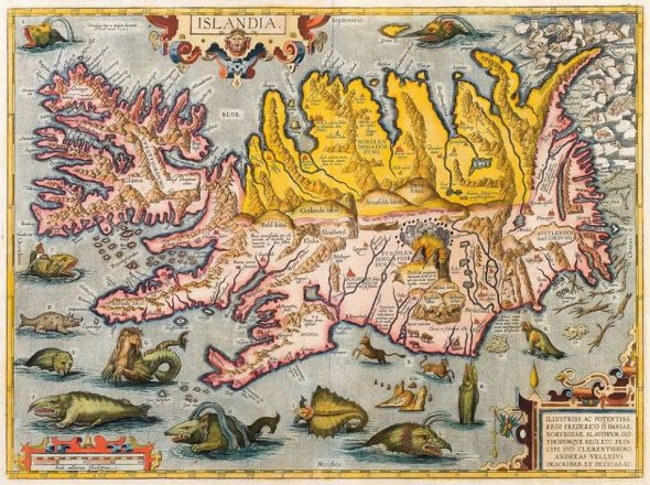 An old map of Iceland