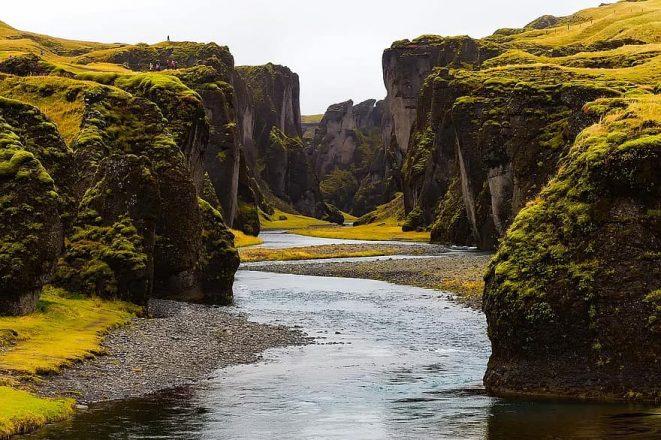 Fjaðrárgljúfur is a stunning canyon in South Iceland