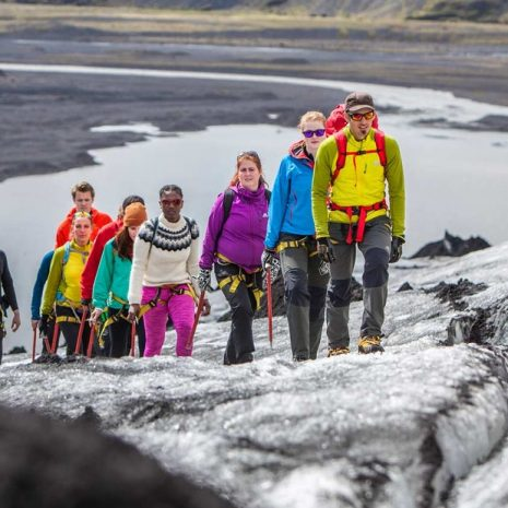 Glacier hiking in south of Iceland