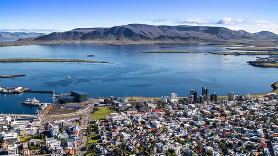 Helicopter tour over the mountain tops surrounding Reykjavik
