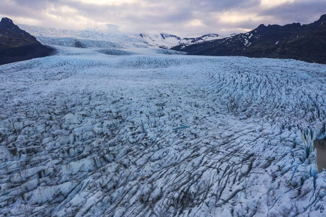 A glacier at Skaftafell Nature Reserve in South-East Iceland.