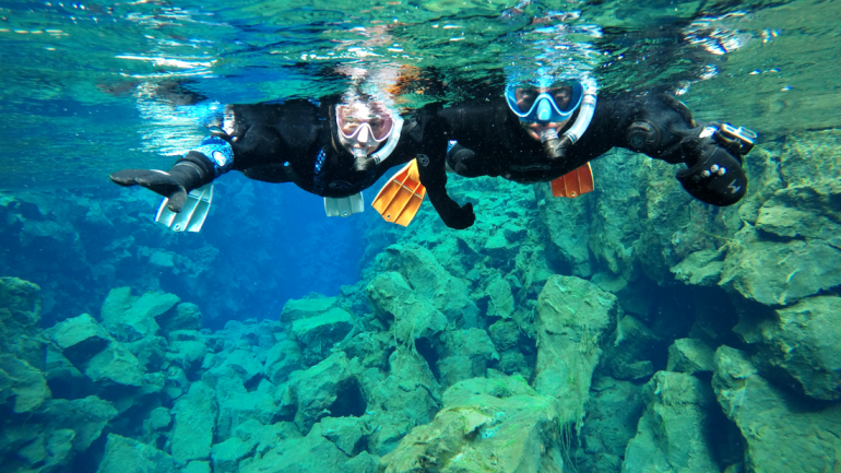 Small Group Snorkelling Tour in Silfra | Free Underwater Photos