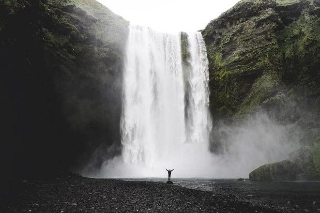 The waterfall, Skogafoss
