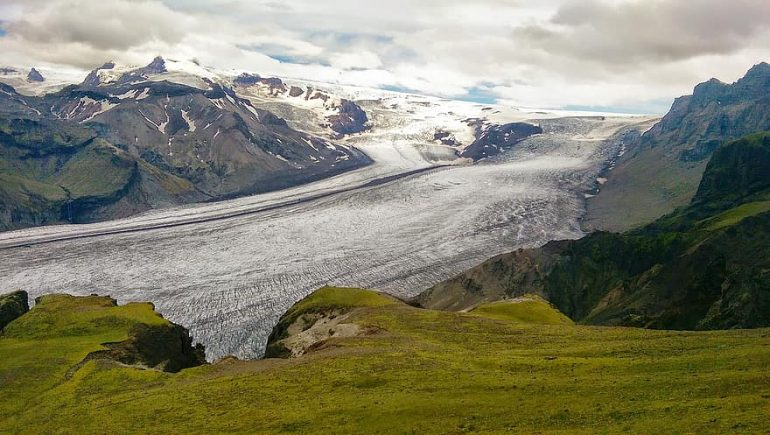 A glacier in South Iceland