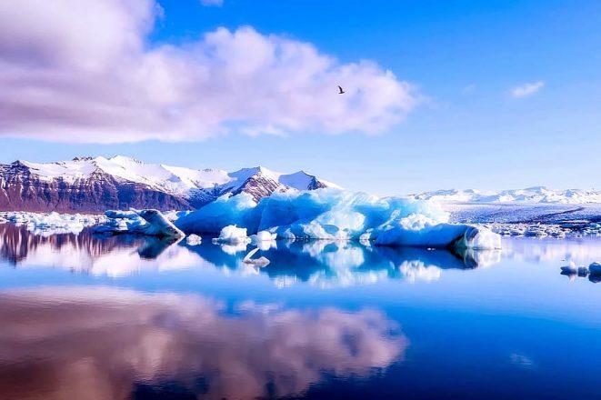 A glacier lagoon in Iceland