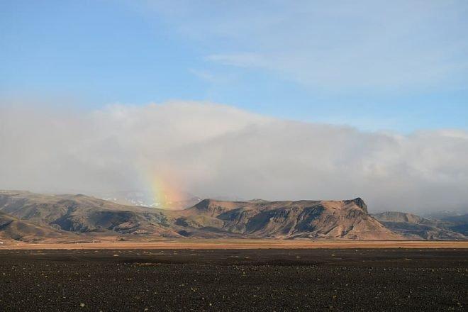 The black sands of Sólheimasandur