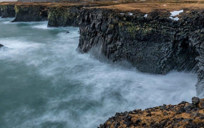 Sea cliffs in Iceland