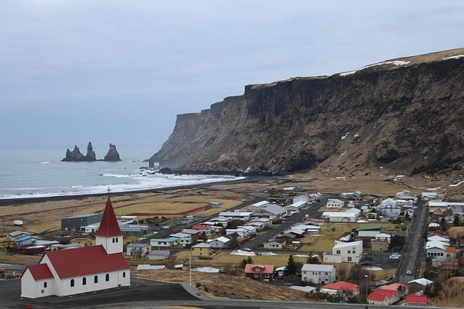 The town of Vik in South Iceland