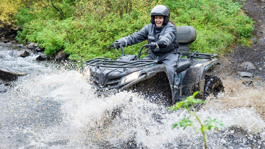 Tour en quad d'une heure dans la forêt d'Hallormsstadur dans l'est de l'Islande