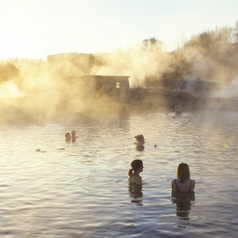 Visit the Secret Lagoon Spa in South Iceland
