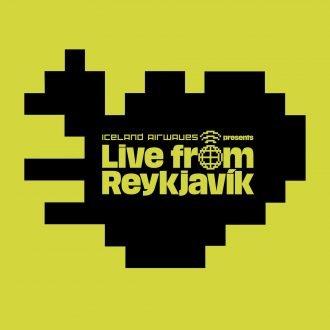 Iceland Airwaves' 'Live from Reykjavik' logo.