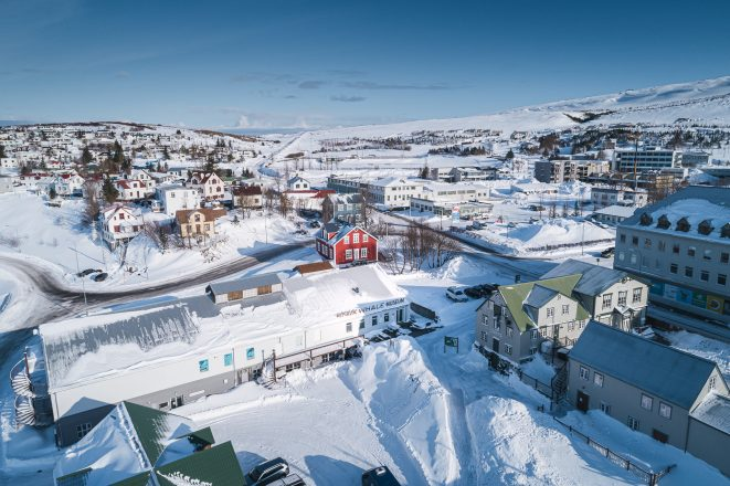 The town of Husavik in Iceland.
