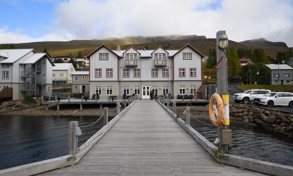 Fosshotel and rebuilt pier in Faskrudsfjordur