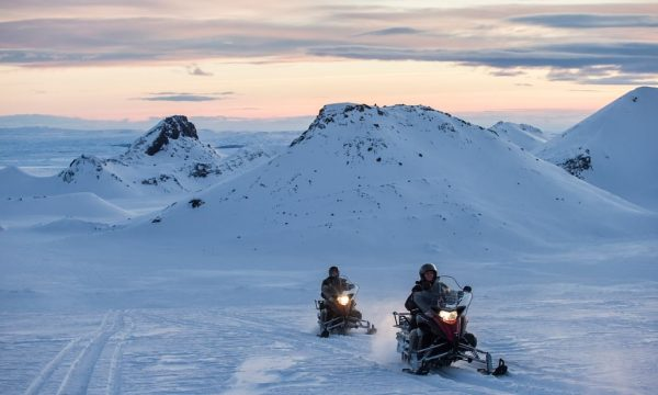 Snowmobiling Tour on Langjokull Glacier from Gullfoss Waterfall