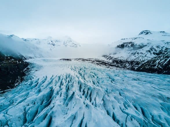 A glacier in South-West Iceland