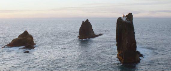 Icelandic band Kaleo on an island near the Westman Islands.