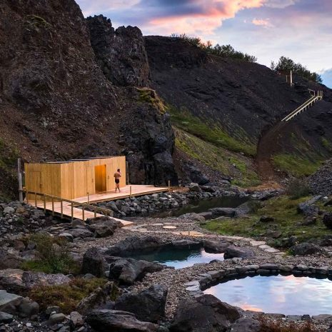 Hot Spring Canyon Baths & Waterfalls in the Highlands