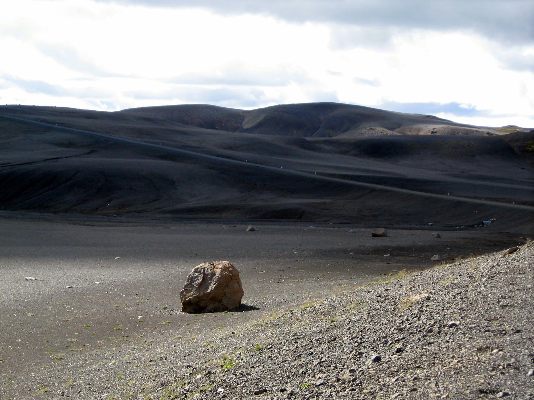 The black desert of Sprengisandur in the Icelandic Highlands.